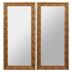 Pair of Gilt Faux Bamboo Mirrors