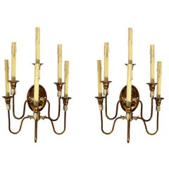 Pair of Gilt Metal Italian Sconces