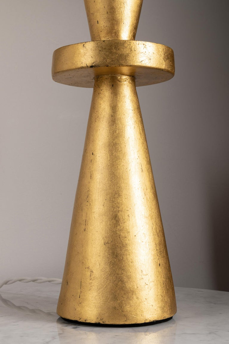 Pair of Gilt Plaster Tables Lamps  For Sale 5