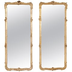 Pair of Gilt Rococo-Style Wall Mirrors, 19th-20th Century