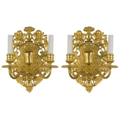 Pair of Gilt Sconces by the E. F. Caldwell Co.