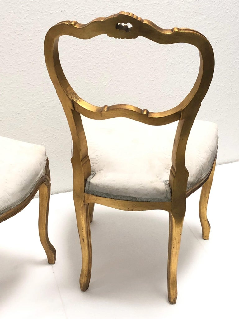 Pair Of Giltwood Chairs Shabby Chic Swedish Antique Farmhouse Style 1920s For Sale At 1stdibs