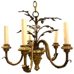 Pair of Giltwood and Metal Chandeliers, Sold Individually