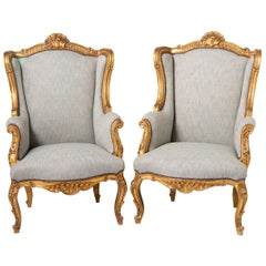 Pair of Giltwood Armchairs, France, circa 1890