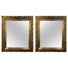 Pair of Giltwood Late 19th Century Wall or Console Mirrors