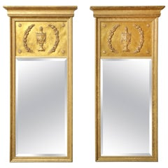 Pair of Giltwood Neoclassical Style Mirrors