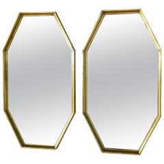 Pair of Giltwood Octagon Wall Mirrors