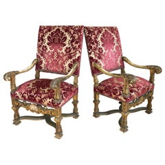 Pair of Giltwood Regence Style Armchairs