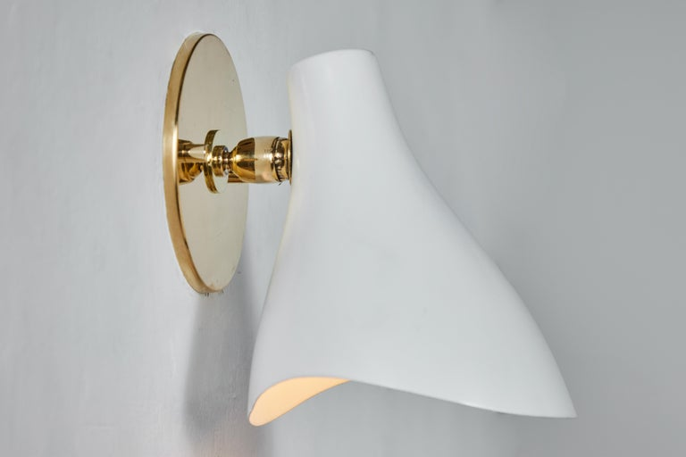 Mid-20th Century Pair of Gino Sarfatti Model #10 Sconces for Arteluce For Sale