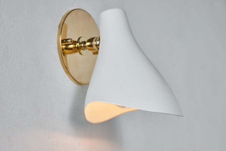 Brass Pair of Gino Sarfatti Model #10 Sconces for Arteluce For Sale