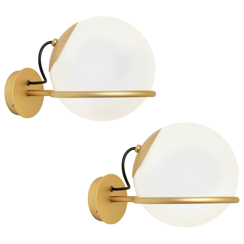 Pair of Gino Sarfatti Model 238/1 Wall Lamps