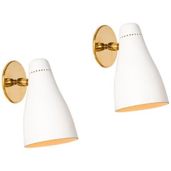 Pair of Gino Sarfatti Perforated Cone Sconces for Arteluce, circa 1950