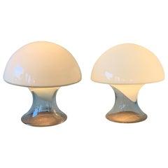 Pair of Gino Vistosi Murano Glass Table Lamps