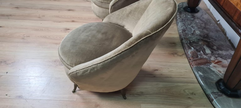 Pair of Gio Ponti Armchairs In Good Condition For Sale In Catania, IT