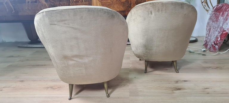 Mid-20th Century Pair of Gio Ponti Armchairs For Sale