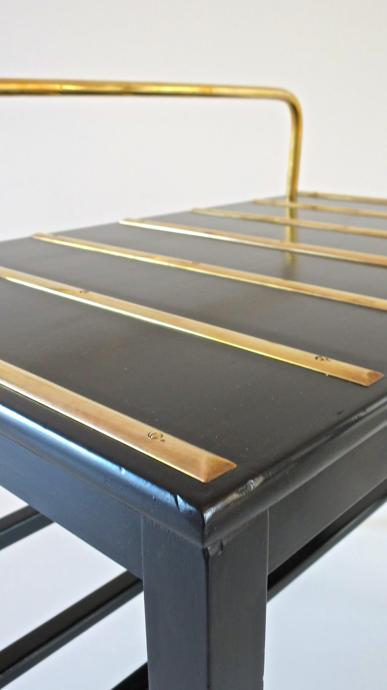 Pair of Gio Ponti Black Walnut Lacquered Side Tables from Hotel Royal Naples For Sale 5