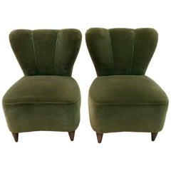 """Pair of Gio Ponti Midcentury Italian Small Armchairs """"Casa E Giardino"""", 1950s"""