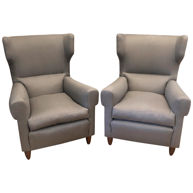 Pair of Gio Ponti Style Armchairs