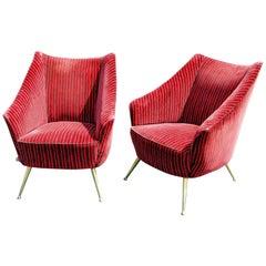 Pair of Gio Ponti Style Lounge Chairs