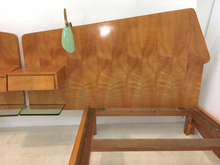 Pair of Gio Ponti Style Twin Beds For Sale 9