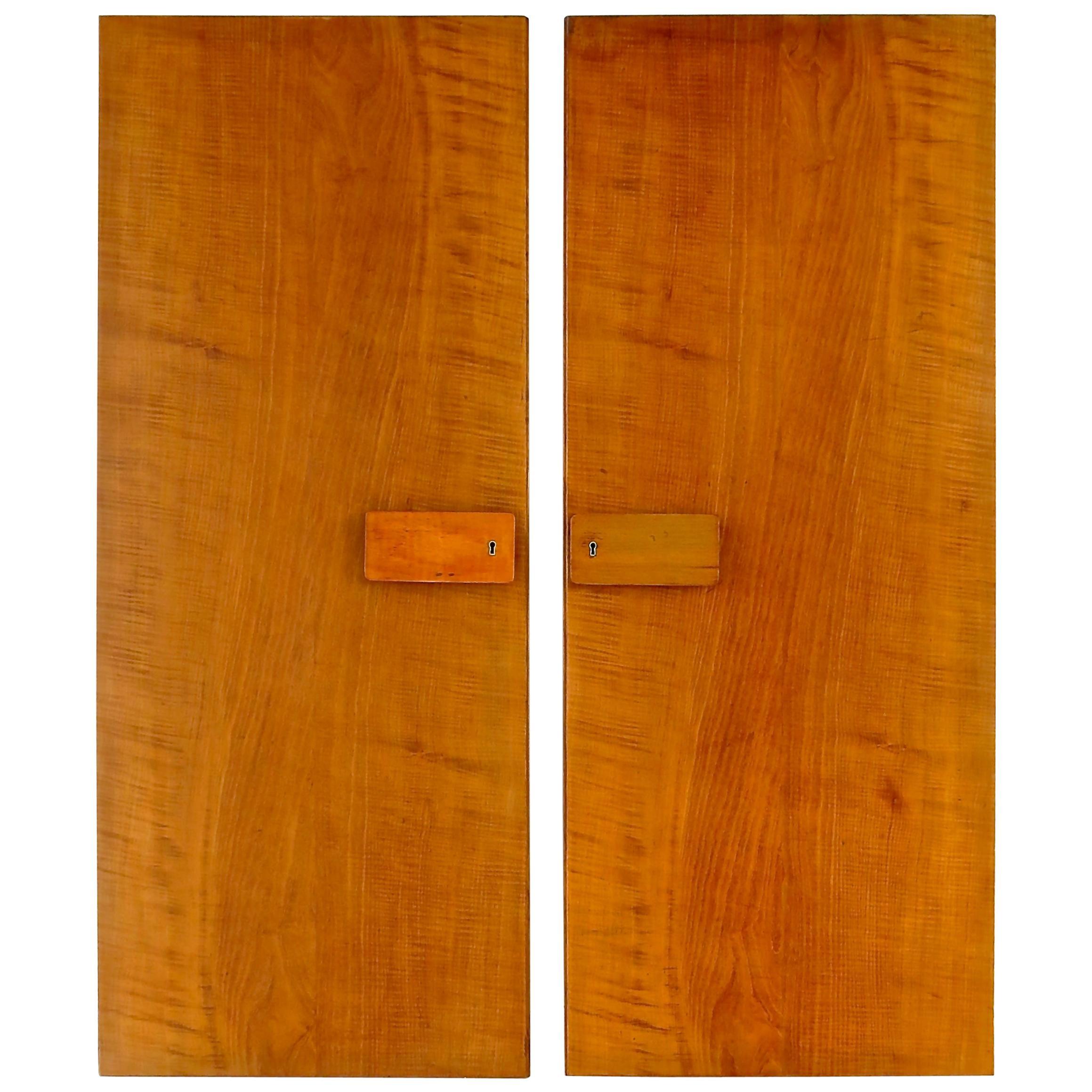Pair of Gio Ponti Wardrobe Doors from the Hotel Royal, Naples, 1955
