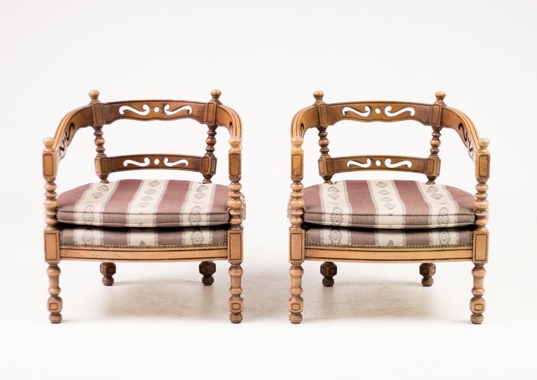Pair of Giorgetti Armchairs For Sale 1