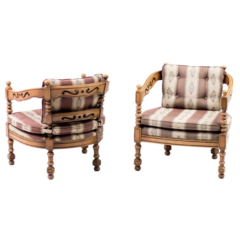 Pair of Giorgetti Armchairs For Sale