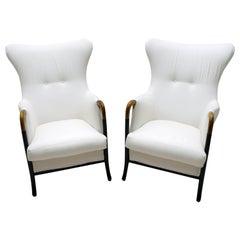 "Pair of Giorgetti Italian Armchairs ""Progetti"", 1990s"