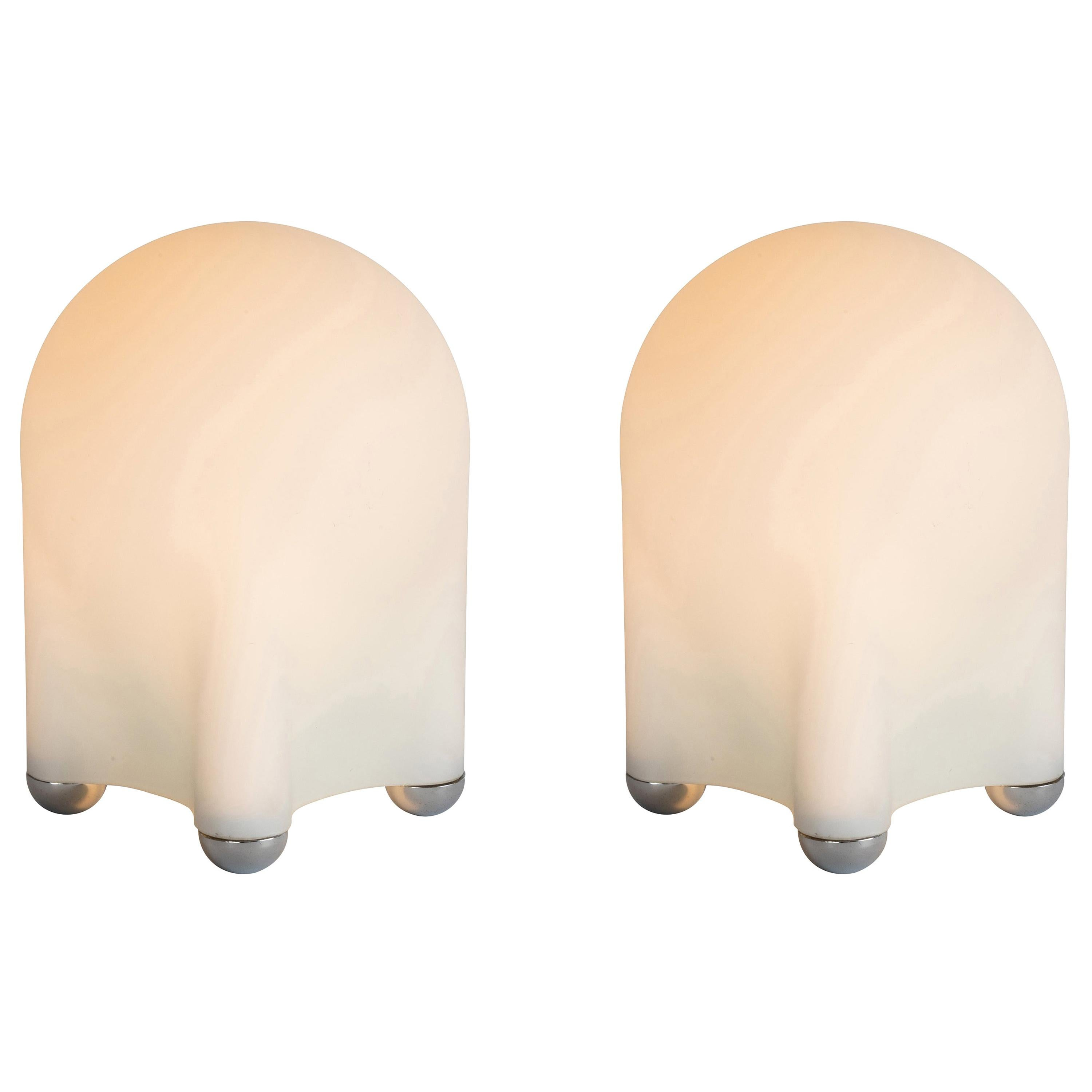 Pair of Giotto Stoppino 'Drop' Table Lamps for Tronconi, circa 1970s