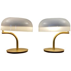 Pair of Giotto Stoppino Swing Arm Desk Lamps