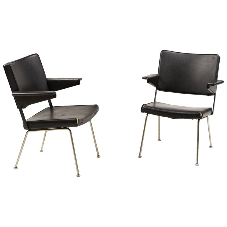 Pair of Gispen Chairs 1268 by Andre Cordemeijer For Sale