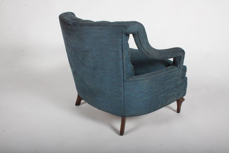 Pair of Glamorous Hollywood Regency Lounge Chairs For Sale 5