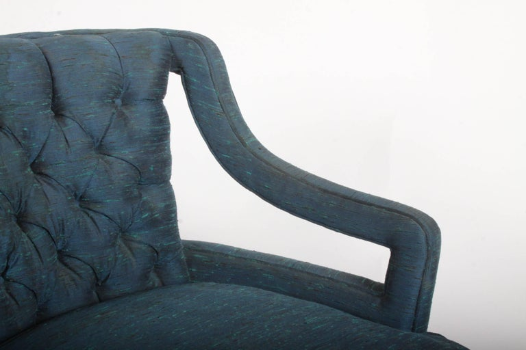 Pair of Glamorous Hollywood Regency Lounge Chairs For Sale 2