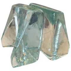 Pair of Glass Blenko Bookends