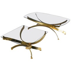 Pair of Glass Coffee Tables in the Style of Maria Pergay