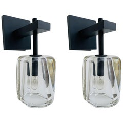 Pair of Glass & Metal Sconces by Alison Berger