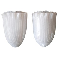Pair of Glass Sconces by Fulvio Bianconi for Venini
