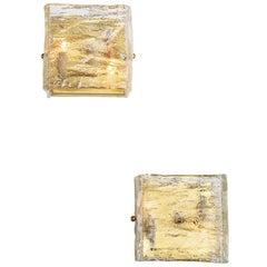 Pair of Glass Sconces, Murano, Italy, circa 1960