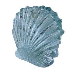 Pair of Glass Shell Blenko Bookends