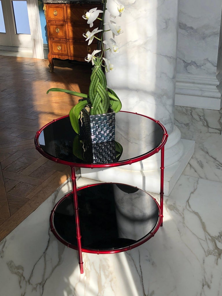 Modern Asian Inspired Side Tables For Sale