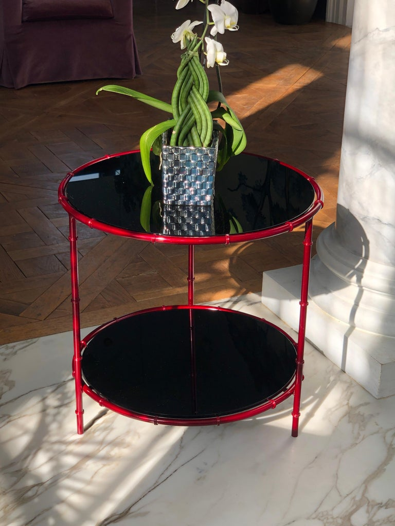 Bronze Asian Inspired Side Tables For Sale