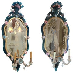 Pair of Glass Venetian Mirrors Early 18th Century, Published and Documented