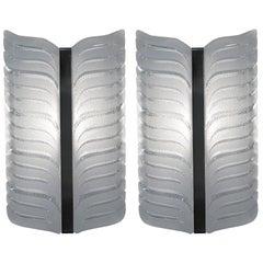 Pair of Glass Wall Sconces by Kaiser Leuchten