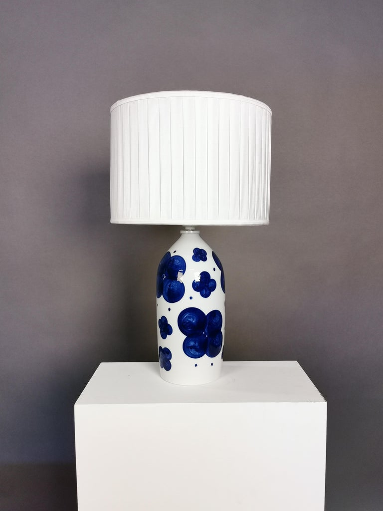 Pair of Glazed Ceramic Table Lamps by Sylvia Leuchovius, Sweden, 1960s For Sale 5