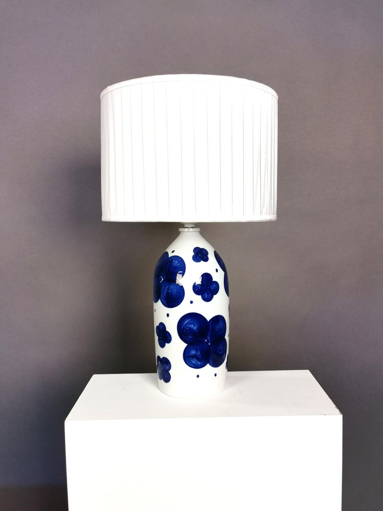 Pair of Glazed Ceramic Table Lamps by Sylvia Leuchovius, Sweden, 1960s For Sale 1