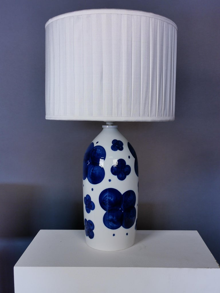 Pair of Glazed Ceramic Table Lamps by Sylvia Leuchovius, Sweden, 1960s For Sale 3