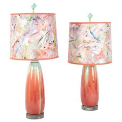 Pair of Glazed Stoneware Pottery Lamps by Pierre-Adrien Dalpayrat & Louis Katona