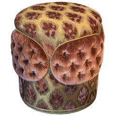 Pair of Gold and Pink Bevilacqua Silk Velvet Ottomans by Studio Maison Nurita