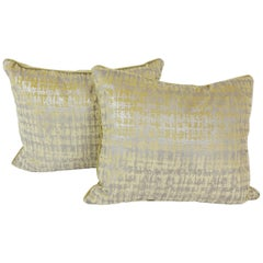 Pair of Gold and Silver Pillows