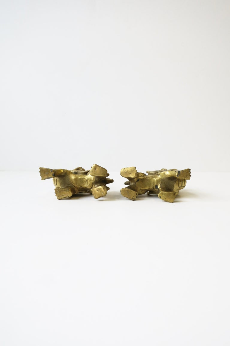 Gold Brass Foo Lion Dogs For Sale 7